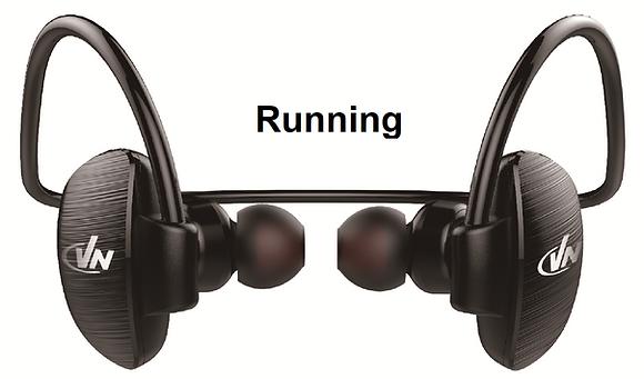 אזניות ריצה אלחוטי BT - שחור