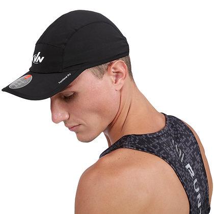 כובע ריצה מנדף זיעה - שחור דגם 6613