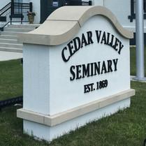 Cedar Valley Seminary - Sign