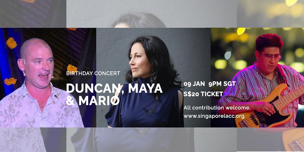 Maya, Duncan & Mario 9 Jan