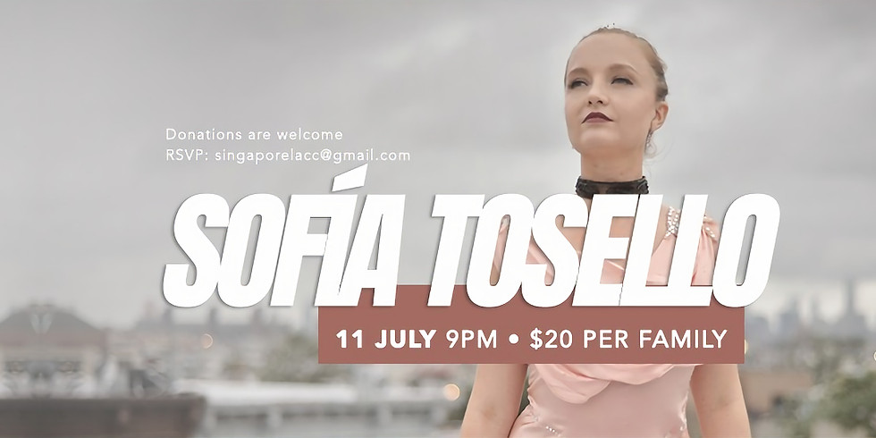 SOFIA TOSELLO ONLINE CONCERT from New York City, USA