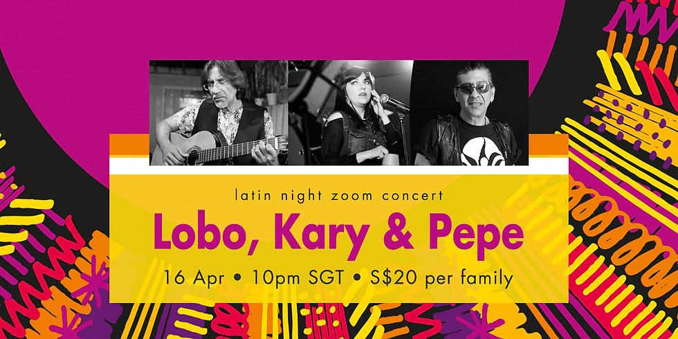 Lobo, Kary & Pepe 16 Apr