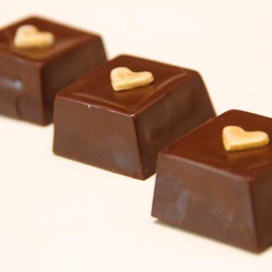Bombom de waffer com Nutella