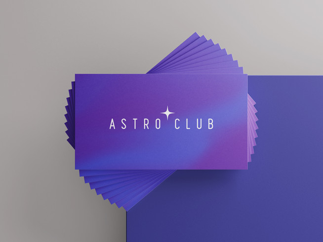 Astro Club / Business Card Design
