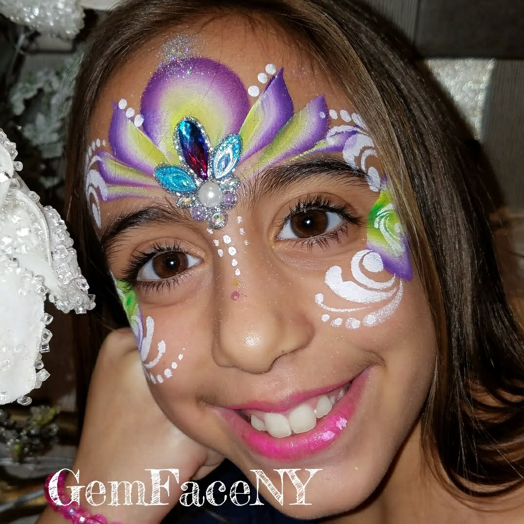 Jewel Face Paint with Bling