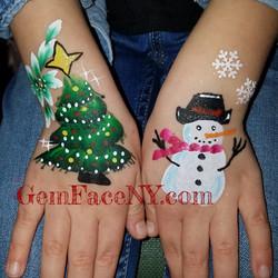 Christmas Hand design