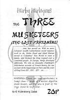 2000 Three Musketeers Programme cover