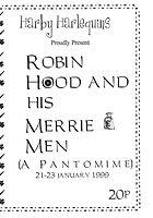 1999 Robin Hood Programme cover
