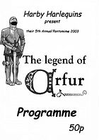 2003 The Legend of Arfur  Programme cover