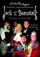 2020 jack and the beanstalk Programme cover.