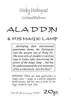 2001 Aladdin Programme cover
