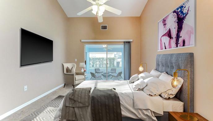 Master bedroom furnished