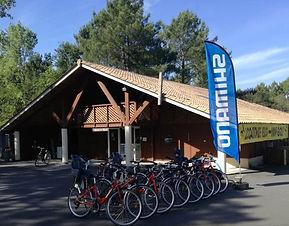 location de vélos hotel les pins hourtin
