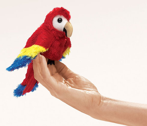 Scarlet Macaw Finger Puppet by Folkmanis