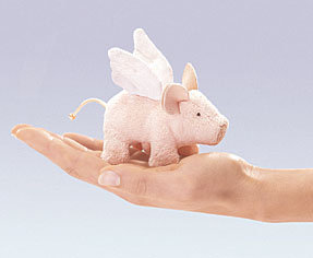 Winged Piglet Finger Puppet by Folkmanis