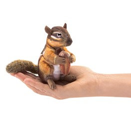 Chipmunk with Acorn finger puppet by Folkmanis