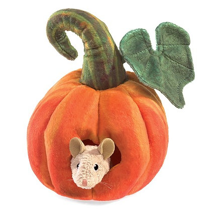Mouse in Pumpkin Puppet by Folkmanis