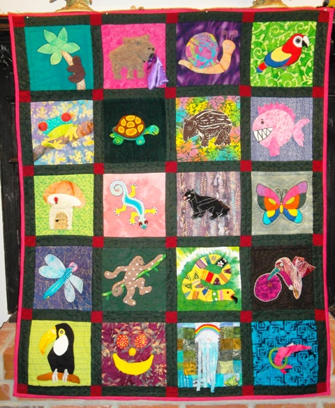 Kelsey's Rainforest Quilt