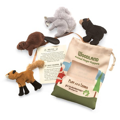 Woodland Animal Set of Finger Puppets by Folkmanis