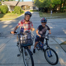 Elias & Nana on Bike Ride
