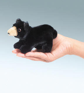 Black Bear Finger Puppet by Folkmanis