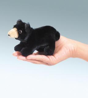 Black Bear Finger Puppet by Folkmanis