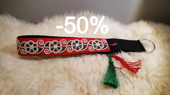 Paprika-Paillettenhalsband Marokko, rot/grün
