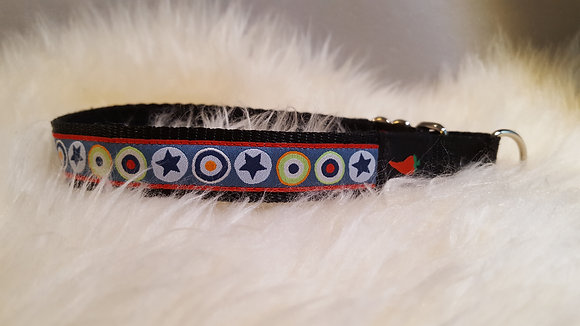 Paprika-Halsband Sterne handmade