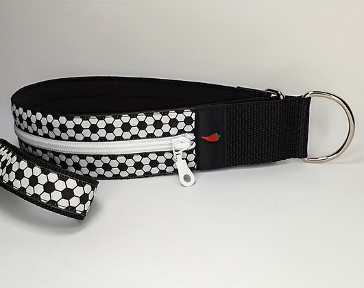 Paprika Zipp-Halsband Fussball