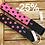 Thumbnail: Paprika Halsband Big Dots pink/schwarz