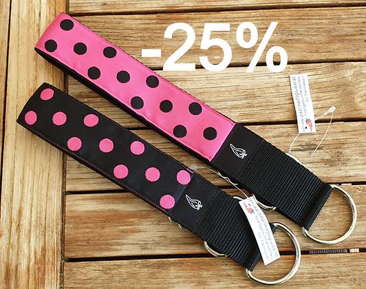 Paprika Halsband Big Dots pink/schwarz