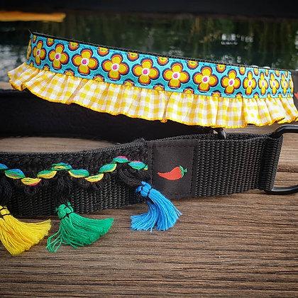 Paprika-Halsband Bisazza mit Rüsche