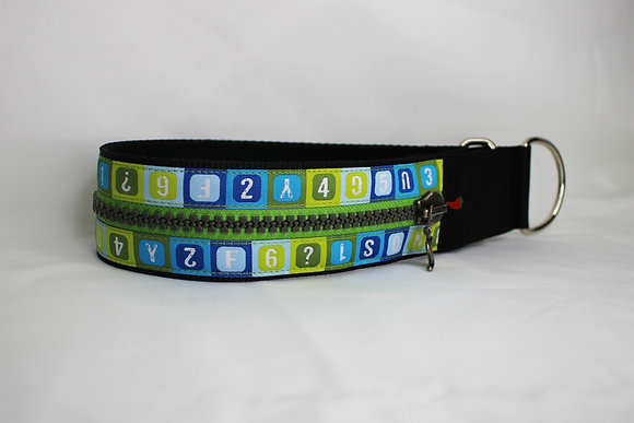 Paprika Zipp-Halsband Schule, blau grün