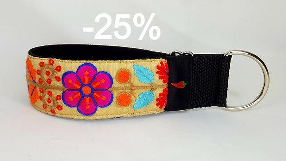 Paprika-Halsband Happy Flowers