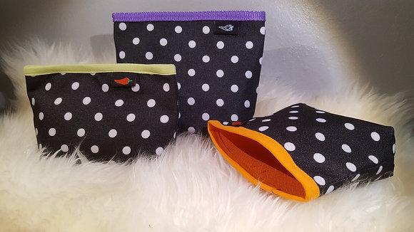 Paprika-Magnetbag Punkte schwarzweiss