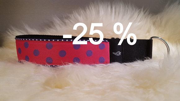 Paprika Halsband Big Dots pink/lila - limited Edition