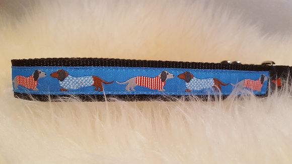 Paprika-Halsband Dackel im Pulli