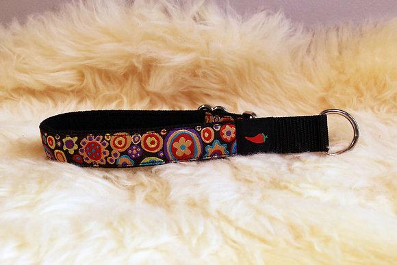 Paprika-Halsband Hippieblumen, rot, lila, gelb
