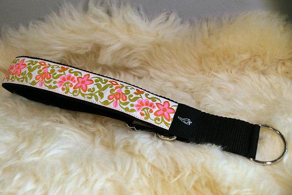 Paprika-Halsband Blumen, pink grün