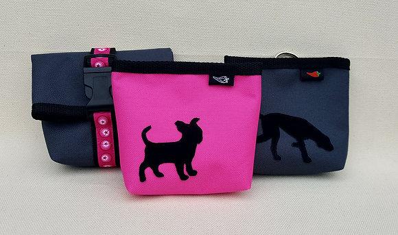 Paprika-Magnetbag mit Hundesilhouette