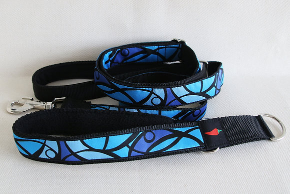 Paprika-Halsband Mosaik, rot, blau oder grau