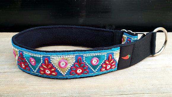 Paprika Halsband Spiegelchen blau