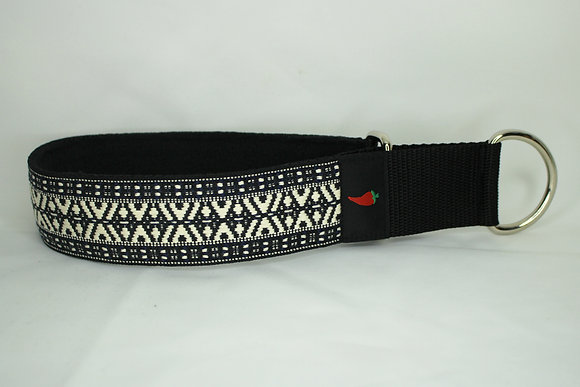 Paprika-Halsband Tel Aviv, schwarz/weiss