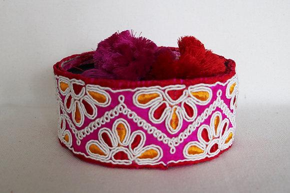 Paprika-Prachthalsband Marokko, pink