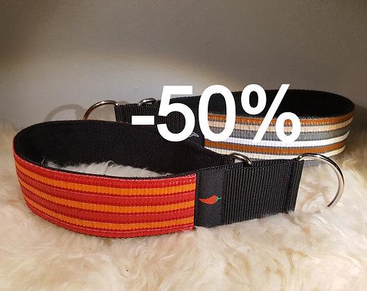 Paprika-Halsband Kunstleder, rot/orange