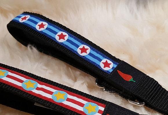 Paprika Halsband Cpt America, rot, blau oder grün