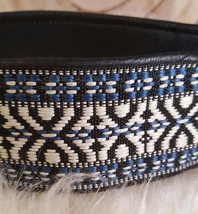 Paprika-Halsband Lissabon, schwarz/weiss/blau