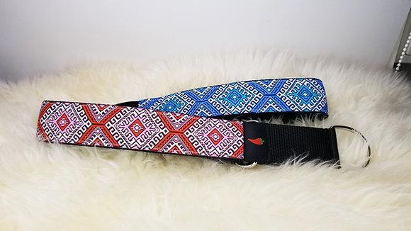 Paprika-Halsband Amy Butler Rauten, rot/pink oder blau/aqua