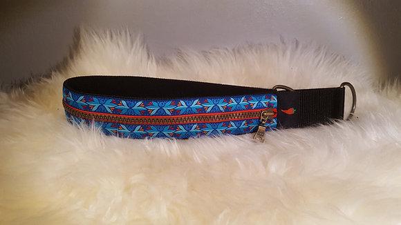 Paprika Zipp-Halsband Avatar, blau rot orange