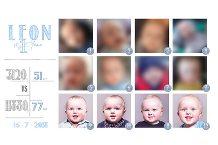 Baby 1-12 Monate Collage